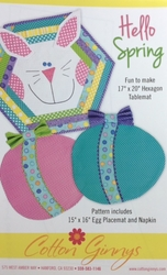 HELLO SPRING - Table Mat/Placemat Pattern