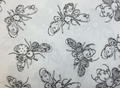 Loralie Designs - BUSY BEES (White)