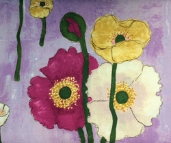 Michael Miller - GATHERED POPPIES (Orchid)