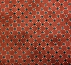 Red Rooster - COTTAGE BASICS (Geometric - Dark Red)