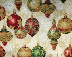 Robert Kaufman - Holiday Flourish 9 - Ornaments (Ivory)