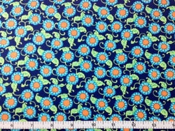 Rowan - Button Flowers (Navy)
