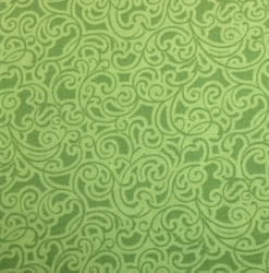 Sasha K Studios - NEW LEAF GREEN SCROLL