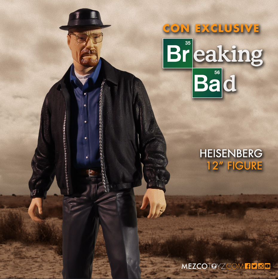 "Breaking Bad 12"" Heisenberg SDCC 2015 Blue Shirt Figure"