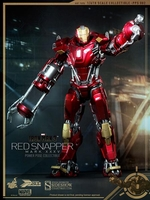 Iron Man Mark XXXV Red Snapper Power Pose Figure