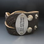 Personalized Braided Leather Cuff