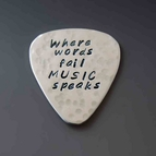 Custom Stainless Steel Guitar Pick - Textured