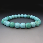 Blue Turquoise Gemstone Stretch Bracelet