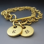 Gold Plated Initial Charm Bracelet