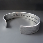 1/2 inch Personalized Hand Stamped Silver Bracelet