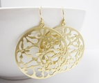 Large Round Filigree Earrings in Gold