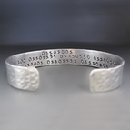 Men's Silver Binary I Love You Cuff