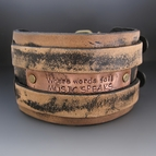 Where Words Fail MUSIC SPEAKS Men's Wide Leather Cuff