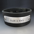 Men's Personalized Family Leather Cuff