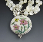White Mother of Pear Necklace  & Sterling Silver