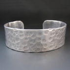 Personalized 3/4 Inch Silver Cuff Bracelet