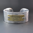 Personalized Gold and Silver Cuff Bracelet