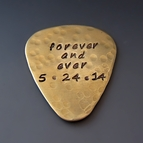 Personalized Gold Brass Guitar Pick