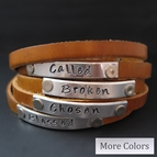 Personalized Leather Wrap Journey Bracelet