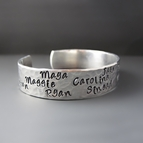 Personalized Silver Mother's Bracelet