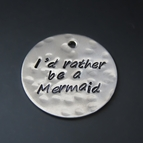 """Personalized Hand Stamped Charm - 7/8"""" Round {sterling silver}"""