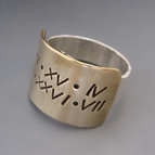 Personalized Sterling Silver & Gold Hand Stamped Ring