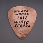 Music Speaks Guitar Pick