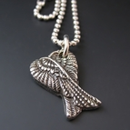 Silver Guardian Angel Wing Necklace