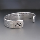 Silver Oh The Places You'll Go Silver Cuff Bracelet - Dr. Seuss
