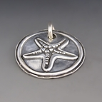 Fine Silver Starfish Charm {Hope/Inspiration}