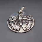 Fine Silver Butterfly Charm  {Transformation}