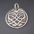 Fine Silver Infinity Heart Charm {Celtic Love Knot}