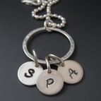 Personalized Mother's Initial Necklace {Sterling Silver}