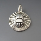 Fine Silver Scarab Charm {Protection}