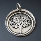 Fine Silver Tree of Life Pendant {Family / Strength}