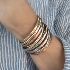 ONE Thin Stacking Bracelet {Copper, Gold or Silver}