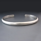 Thin STERLING SILVER Personalized Stacking Cuff Bracelet