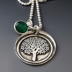 Sterling & Fine Silver Tree of Life / Family Tree Necklace