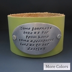 Trust In Your Journey Leather Cuff