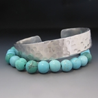 Custom Turquoise and Silver Stacking Bracelets