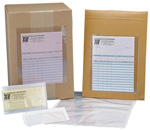 "Pack of  100<br>6 1/8"" x  9 1/2"" Adhesive Back Envelopes"