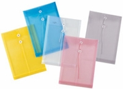 "Pack of  48<br>11"" x 14"" Plastic String Envelopes"