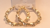 2.5 inch Bamboo Hoop Earrings Gold Tone Bamboo Hoops