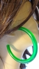 2.75 INCH LUCITE HOOP EARRINGS GREEN HOOPS