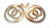 Clip-on Earrings Circle Hoop Clip Gold tone Hoop Earrings