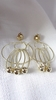 Clip-on Earrings Gold Dangle Bead Earrings 3 inch long Clips