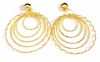 Clip-on Earrings Gold tone Layered Hoop Earrings