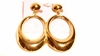 Clip-on Earrings Oval Gold Tone Clip Earrings