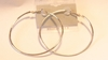 Hypo-Allergenic Hoop Earrings 2.5 inch Silver Plated Hoop Earrings