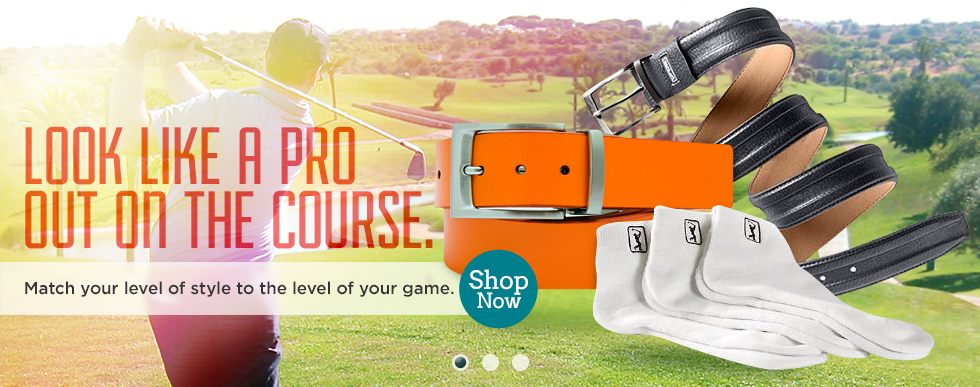 Golf belts and accessories for men